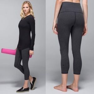 Lululemon Gray Hi Rise Cotton Wunder Under Crop 2